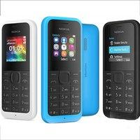 Wholesale Gsm Old - Refurbished Original Nokia 105 2015 GSM Mobile phone 1.4Inch Screen Single SIM No Camera Not Support TF Card Bar Old Keyboard