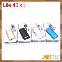 Wholesale E Cig New Design - Jomo new design 40 watt e cig box mod Lite 40w vapor mod kit 3ml tank built-in battery Free DHL