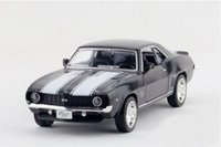 Wholesale 36 Chevrolet - Brand New 1 36 Scale Diecast Car Model Toys Vintage Chevrolet Camaro SS (1969) Metal Pull Back Car Toy For Children Gift