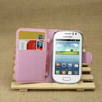 Wholesale Galaxy Fame Case - Diforate New Arrival Luxury Leather Wallet Phone Flip Cover Pouch Case For Samsung Galaxy Fame S6810