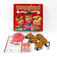Wholesale Gadgets Children - New card Game Poopyhead Board Game Parent-child Interactive Gadgets family party Game anti stress toys 2+players b1386