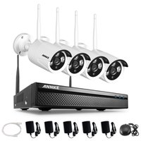 Wholesale Home Video Security System Hd - ANNKE 4CH VIDEO-IN WiFi HD NVR IR CUT Wireless IP Network Home Security Camera System