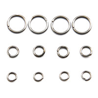 Wholesale Circle Steel Plate - All Size Stainless Steel Jump Ring Jewelry Finding Brass Open Jump Rings Components 100g bag JR06