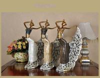 venda de figuras de resina venda por atacado-Resina quente Casal Europeu Dança Figura Ornamentos Para Venda, Resina O Casal Doce Amor Estatuetas De Resina / artesanato / decorações / continental / home