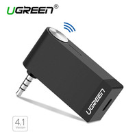 Wholesale Wireless Aux Cable - Ugreen Bluetooth Audio Music Receiver 4.1 Wireless Car 3.5mm Bluetooth Adapter AUX Cable Free for Speaker Headphone HandsFree
