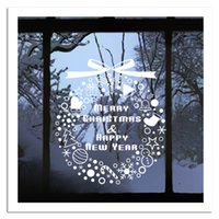 Wholesale Wall Sticker Snow - Creative DIY Christmas Decoration Painting wall sticker Carved Gift snow Removable Windows art Sticker pvc fashion Decor 2017 Wholesale