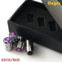 Wholesale Car Valve Box - Car wheel tire valves for SAAB 93 95 9000 92x 95x Car Emblems Tyre Stem Air Caps Car Accessories Styling (Gift box)