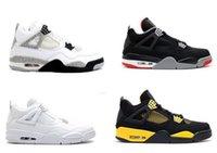 meet 3daa9 abe04 Hohe Qualität 4s Mens Basketball-Schuhe 4s Weiß Zement Schwarz Rot 4  Superman Fashion Sport Schuhe
