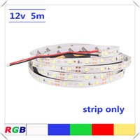 5 Meter 2835 SMD Warm Weiß Blau Grün Rot RGB Led Streifen Licht DC12V Nicht wasserdicht Led Tape IP20 300Leds Fiexble Ribbon String Lighting