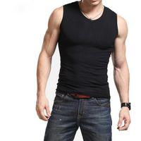 Wholesale Men Under Vest - Men Boy Body Compression Base Layer Sleeveless Summer Vest Thermal Under Top Tees Tank Tops Fitness Tights