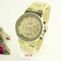 Wholesale 6478 Top Woman watches Fashion Ladies Crystal Clock SilverBlue Luxury Women Wristwatch