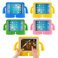 Wholesale 3d China Tablet - Tablet Case For ipad 234 General Silicone Kids Thick Foam Shock Proof Soft Handle Stand Smart 3D Children Cover For ipad 9.7 inch