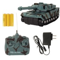 Wholesale Radio Controlled Tank Model - Wholesale- 1:22 Radio Remote Control RC Tank Battle Toy Tank RC Fighting Tank Model Classic Toys For Children 360 Rotation Music LED