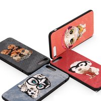 Wholesale Embroidery Cases Iphone - For iPhone 7 Embroidery Case Handmade Embroidery 3D Dogs Phone Cases For iphone 6 6S Plus 7 7Plus Cases