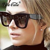 okculus kedi gözü retro toptan satış-2017 Kedi Göz Güneş Kadınlar Beyound Yıldız Süperstar Kim Kardashian Retro Vintage Sıcak Işınları Cateye Güneş Gözlükleri Shades óculos