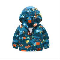 Wholesale Wholesale Ski Coats - Boy ski-wear, coat the new 2017 children in the spring and autumn period and the children's wear children's car printing baby leisure trench