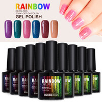 Wholesale Neon Nail Gel - Modelones 10Pcs 10ml Colorful Neon Nail Gel UV Gel Soak Off UV Color Gel Nail Polish Color Nail Art