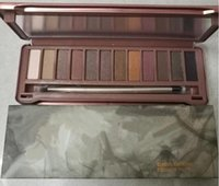 Wholesale N9 Dhl - New Nude N9 eyeshadow 12 colors classic earthtone eyeshadow palette with Brush with Logo DHL FEDEX free