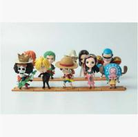boneca japonesa venda por atacado-Boa qualidade 10 PCS Definir Um Pedaço Luffy Zoro Sanji Hancock Figuras de Ação PVC Anime Brinquedos Japonês Boneca Dos Desenhos Animados Brinquedos Frete Grátis