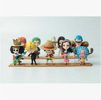 Wholesale Luffy Pvc - Good quality 10 PCS Set One Piece Luffy Zoro Sanji Hancock Action Figures PVC Anime Toys Japanese Cartoon Doll Toys Free Shipping