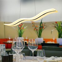 Wholesale Dinning Room Art - Hot LED Acylic Pendant Light wavy S type Modern for living room Wave Acrylic pendant lamp dinning room Pendant Lighting AC85~265V