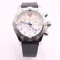 Wholesale Dhgate White Dresses - DHgate selected top store luxury brand watches men avenger seawolf chrono white dial rubber band watch quartz mvmt watch mens dress watches