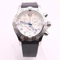 Wholesale store rubber bands resale online - DHgate selected top store watches men avenger seawolf chrono white dial rubber band watch quartz watch mens dress watches