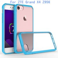 Wholesale Grand Bumpers - For ZTE Grand X4 Z956 armor Case Transparent Clear Hybrid Bumper Shockproof Back Cover Phone Accessories