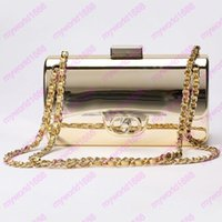 Wholesale Silver Purse Clutches - Designer Tyrant Gold-plated Acrylic Handbags Famous Evening Bags Brick Vintage Clutch Shoulder Bags Tote Purse Party Women