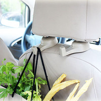 Wholesale Purse Hanger Pcs - Wholesale- 2 Pcs Hot Sale Delicate Car Auto Fastener & Clip Portable Seat Hanger For Purse Bags Organizer Holder Hook