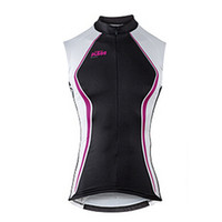 Wholesale Women S Team Cycle Jerseys - Pro KTM Team Summer Woman sleeveless vest Cycling Jersey Bicycle Clothing Breathable Bike Shirt ropa ciclismo hombre E1801
