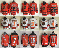 Wholesale Parent Jersey - Wholesale 1980 All Star Hockey Jersey Throwback 99 Wayne Gretzky 31 Billy Smith 5 Potvin 22 Mike Bossy 1 Parent Red White Jerseys