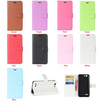 Wholesale Cover For N8 - For Vodafone Smart E8 first 6 N8 Prime 6 V8 Case Litchi pattern Card Slot Wallet Case Slim Flip Stand Cover Retail Package