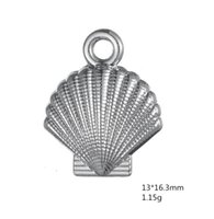 ingrosso cina conchiglie marine-Fascini del pendente della spiaggia di vita natalizia del guscio di colore dell'argento di colore dell'oro per il braccialetto 30pcs all'ingrosso di DIY fatto in Cina