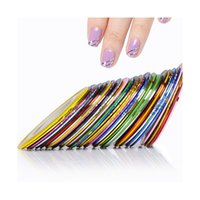 Wholesale Tape Nail Art Designs - Wholesale- 60Pcs Mixed Colors Rolls Striping Tape Line Nail Art Tips Decoration Sticker Nails Art Design Beauty Makeup Nail Tool Manicure
