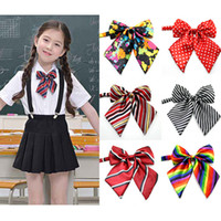 Wholesale Opening Performance - Multicolor Kids adjustable bow tie school uniform accessory props boys girls opening ceremony school opening day performance bowknot ties