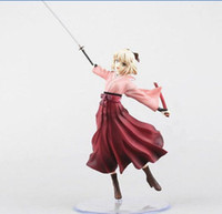 Wholesale Cheap Hot Toys Figures - Hot Sale Free Shipping Anime Fate Stay Night Sakura Saber Figure Figurine Toy Doll New In Box Cheap Price
