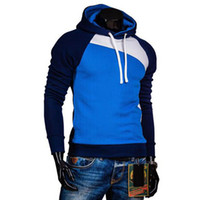 Wholesale Wholesale Designer Sweatshirts - Wholesale-2016 Designer Hoodies Men Sweatshirts Slim Hooded Sportswear Sweatshirt Men Autumn Tracksuits Moleton Pullover Sudaderas Hombre