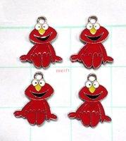 Wholesale Sesame Street Jewelry - New 50 Pcs Cartoon Sesame street Jewelry Making Accessories Metal Charm pendants