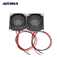 Wholesale Wholes Speakers - Wholesale- AIYIMA 2pcs 27*20 mm 8 ohm 1.5 W Full Range Stereo Speaker Whole Cloth Pressure Side Electronic Horn Enthusiast DIY Loudspeaker