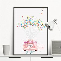 Pink Wedding Car Custom Fingerprint Firma Guest Book con 2 set Ink Pad regalo Canvas Painting DIY Art Drawing Migliori souvenir