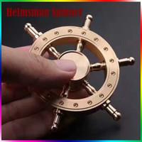 Wholesale Pirate Boats - Metal Fidget Spinner Helmsman Hand Spinner Pirate Boat Rudder Detachable Fidget Spinner Steering Wheel Design Edc Fidget Toy
