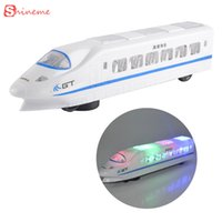 Wholesale Bullet Sound - kids toys diecasts & toy vehicles electric bullet train toy LED flashing lights music light sounds for girl boy gifts