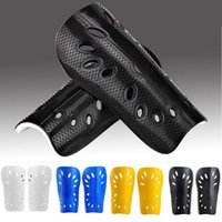 Wholesale Wholesale Football Shin Pads - Wholesale- New Soccer Football Shin Guards Pads light Leg Protector Soft Sports Guard Ankle Joint Support