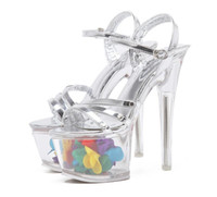 Wholesale Glass Slipper Flat Shoes - European Brand Handmade Shoes Women's High Heels Shoes Ladies Sexy Nightclub sandals luxury flowers Glass slipper Woman open-toed Sandals