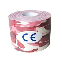 Wholesale Camouflage Adhesive Tape - Wholesale- Kinesiology Tape Sports Tape Cotton Elastic Adhesive Muscle Bandage Care Physio Strain Injury Support pink camouflage
