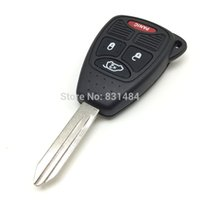 2 Uncut Transmitter Keyless Key Fob carro Case Shell para Dodge Charger Durango Magnum Chrysler 300 Aspen Jeep Commander Grand Cherokee