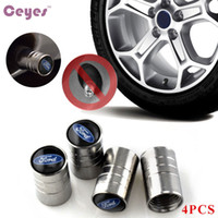 Wholesale ford focus wheels - Auto Car wheel Tire Valve Caps Cover For Ford focus 2 3 fiesta kuga mondeo ranger Emblems Car Styling 4PCS LOT