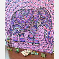 Wholesale Bohemia Curtain Home Textiles Indian style printed home tapestry wall hanging wall decoration beach towel elephant totem beach carpet