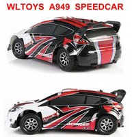 Atacado- WL Wltoys A949 Racing RC Car RTR 4WD 2.4GHz Drift Toys Controle Remoto Car 1:18 High Speed ​​50km / h Electronic Car VS L939